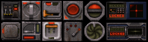 Duke Nukem wall switches, to be used for textures.